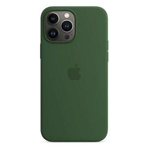 Original Apple iPhone 13 Pro Max Silikone MagSafe Bagside Cover Kløvergrøn (MM2P3ZM/A)