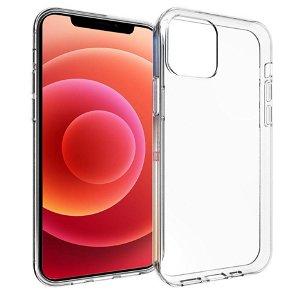 iPhone 12 / 12 Pro Diskret Fleksibelt Plastik Bagside Cover - Gennemsigtig