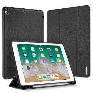 "iPad Air (2019) / iPad Pro 10.5"" Cover - DUX DUCIS Domo Series Tri-fold Læder Cover - Mørkegrå"