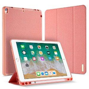 """iPad Air (2019) / iPad Pro 10.5"""" Cover - DUX DUCIS Domo Series Tri-fold Læder Cover - Lyserød"""