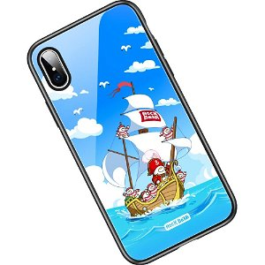 iPhone XS Max ROCK Bear Pirate Ship Cover m. Glas Bagside