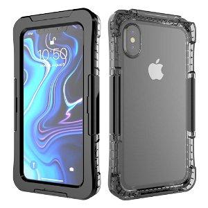iPhone Xs Max IP68 Waterproof Protection Case - Vandtæt Cover Sort