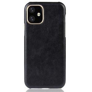 iPhone 11 Pro Sort Læderbetrukket Cover