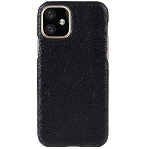 iPhone 11 Pro Læder Cover m.  Krokodilletekstur Sort