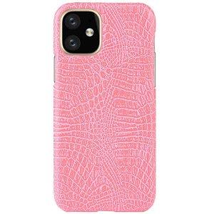 iPhone 11 Pro Læder Cover m. Krokodilletekstur Lyserød