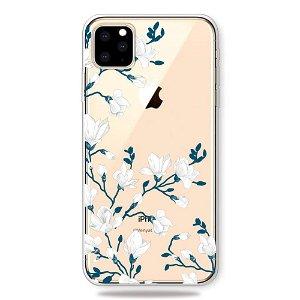 iPhone 11 Pro Gennemsigtig Fleksibelt Plastik Cover - Blomster