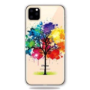 iPhone 11 Pro Gennemsigtig Fleksibelt Plastik Cover - Farverigt Træ