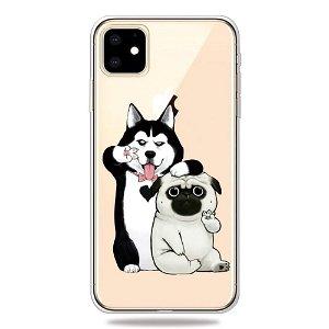 iPhone 11 Gennemsigtig Fleksibelt Plastik Cover - To Hunde