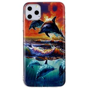 iPhone 11 Pro Max Fleksibelt Cover Delfiner