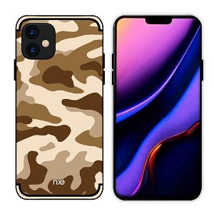 iPhone 11 NXE Camouflage Cover - Brun
