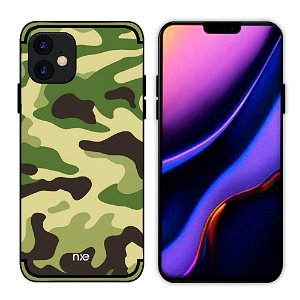 iPhone 11 NXE Camouflage Cover - Lysegrøn