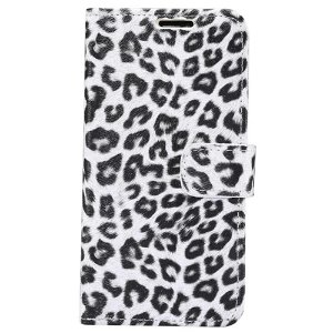 iPhone 11 Pro Max Læder Cover m. Pung Leopard Hvid