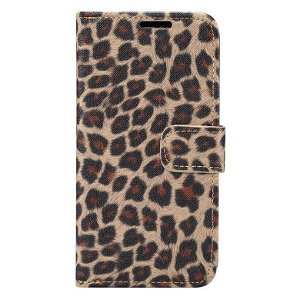 iPhone 11 Pro Max Læder Cover m. Pung Leopard Lysebrun