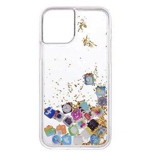 iPhone 11 Pro Plastik Cover App Ikoner m. Glitter