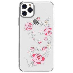 iPhone 11 Plastik Cover Blomstret Kvinde Gennemsigtig