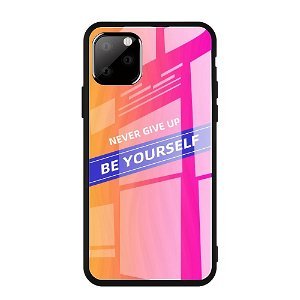 iPhone 11 Pro Max Cover m. Glasbagside - Be Yourself - Pink