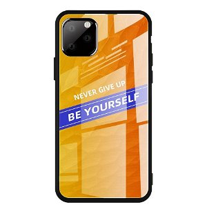 iPhone 11 Pro Max Cover m. Glasbagside - Be Yourself - Orange