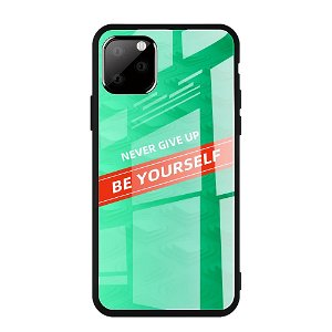 iPhone 11 Pro Max Cover m. Glasbagside - Be Yourself - Grøn