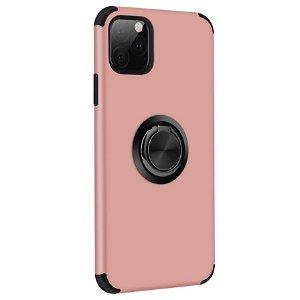 iPhone 11 Pro Fleksibelt Plast Cover m. Ring Kickstand Rose Gold
