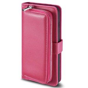 iPhone 11 Pro Max 2-i-1 Læder Cover m. Pung - Rosa
