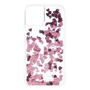 iPhone 11 Plastik Cover Lyserøde Hjerter