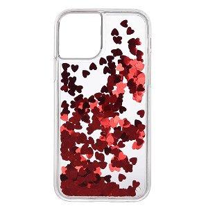 iPhone 11 Pro Max Plastik Cover Røde Hjerter