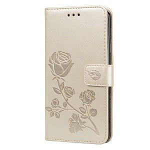 iPhone 11 Pro Max Læder Cover m. Pung - Guld Rose