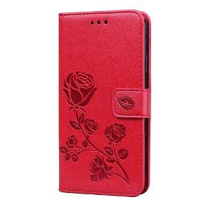 iPhone 11 Pro Max Læder Cover m. Pung - Rød Rose