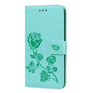 iPhone 11 Pro Max Læder Cover m. Pung - Blå Rose