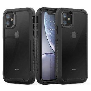 iPhone 11 Stødabsorberende Hybrid Cover - Sort