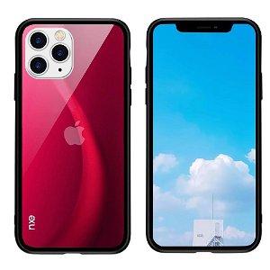 iPhone 11 Pro NXE Fleksibelt Fashion Cover m. Glasbagside - Rød
