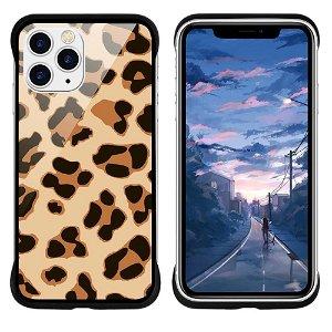 iPhone 11 Pro Max NXE Cover Leopard Tekstur Gennemsigtigt / Gul
