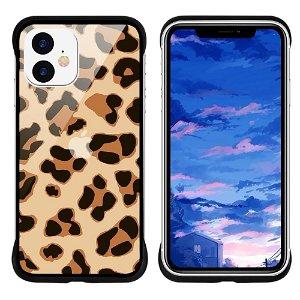 iPhone 11 NXE Cover Leopard Tekstur Gennemsigtigt / Gul