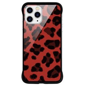 iPhone 11 Pro NXE Cover Leopard Tekstur Gennemsigtigt / Rød