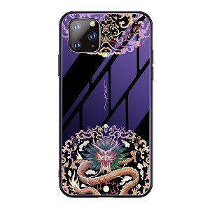 iPhone 11 Pro Selvlysende Cover m. Glasbagside - Kinesisk Drage