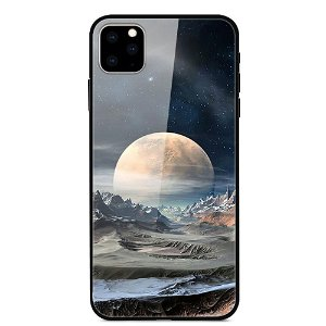 iPhone 11 Cover m. Glasbagside - Moonscape