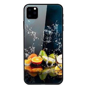iPhone 11 Cover m. Glasbagside - Frugt