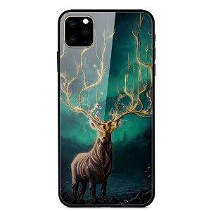 iPhone 11 Cover m. Glasbagside - Tree Deer