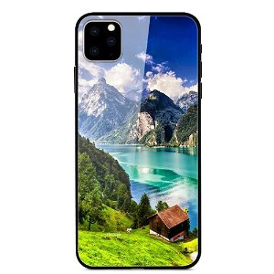 iPhone 11 Pro Max Cover m. Glasbagside - Mountain Hut
