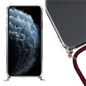 iPhone 11 Pro Fleksibelt Plastik Cover m. Strop - Rød