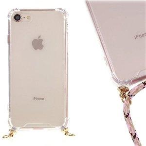 iPhone SE (2020)/8/7 TPU Plastik Cover m. Strop - Lyserøde Striber