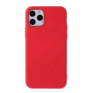 iPhone 11 Pro Max Mutural Soft Color Series Silikone Cover - Rød