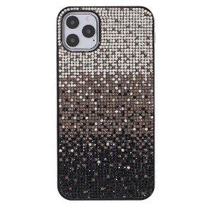 iPhone 11 Pro Max Plastik Cover m. Glimmer - Sort / Grå / Sølv