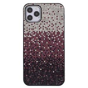 iPhone 11 Pro Max Plastik Cover m. Glimmer - Rød / Sølv
