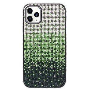 iPhone 11 Pro Max Plastik Cover m. Glimmer - Grøn / Sølv