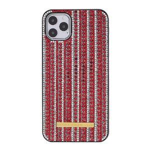 iPhone 11 Pro Max Rhinestone Cover - Rød