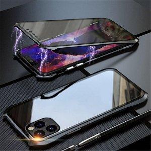 iPhone 11 Pro 360 Graders Magnetisk Cover m. Glas Forside & Bagside (Batman) - Sort