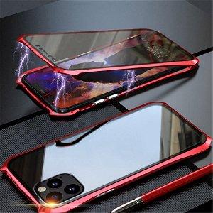 iPhone 11 Pro 360 Graders Magnetisk Cover m. Glas Forside & Bagside (Batman) - Rød / Sort