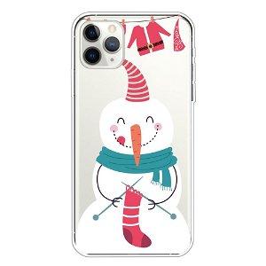 iPhone 11 Pro Max Fleksibelt Plast Cover - Glad Snemand