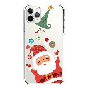 iPhone 11 Pro Max Fleksibelt Plast Cover - Sød Julemand